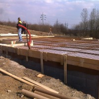 Základová deska Litvínov - 2011 - Litvínov -  Základová deska pro dřevostavbu.