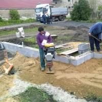 Základová deska Křesín - 2010 - Křesín - Základová deska pro dřevostavbu.